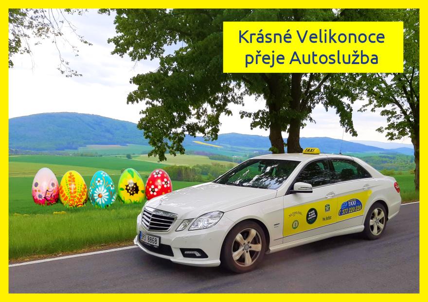 Velikonoční přání taxi
